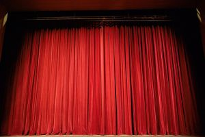 closed theater curtain