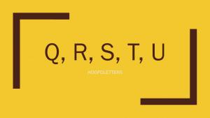 Hoofdletter q, r, s, t, u
