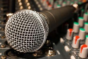 Microfoon op mengpaneel