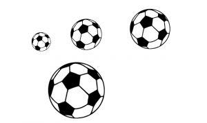Voetballen van een verschillende grootte