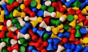 Gekleurde pionnen
