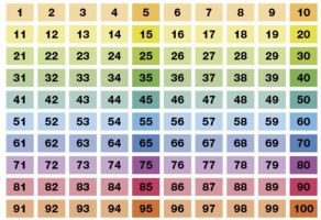 100-veld kleurrijk