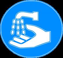 picto van handen wassen