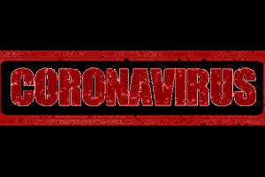 woord in rode letters: coronavirus