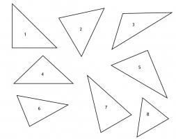 8 genummerde driehoeken