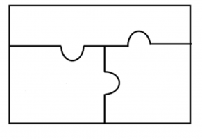 Blank puzzle pieces (puzzle of 3)