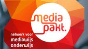 Het logo van mediapakt.