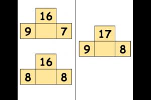 brug over tien in splitsvorm: 16 = 19 en 7 / 16 = 8 en 8