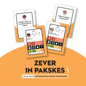 'Zever in pakskes': educational game about the nonsense that is spread about smoking