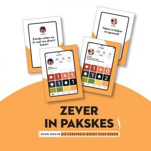 'Zever in pakskes': educatief spel over de onzin die verspreid wordt over roken