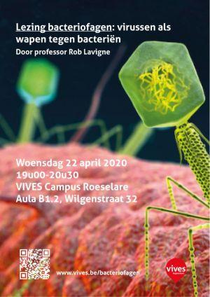 affiche met info lezing bacteriofagen