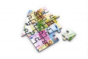 puzzel in de vorm van een huisje