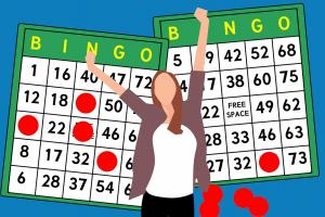 clipart van een vrouw voor een bingokaart