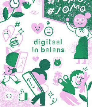 De cover van de mediawegwijzer digitaal in balans.