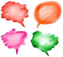Gekleurde tekstballonnen