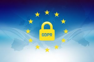 Drawing of padlock with the letters GDPR