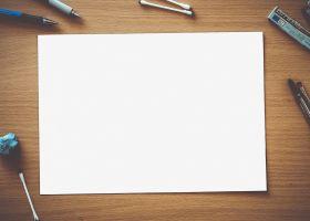 afbeelding van een blad papier