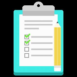 tekening van checklist