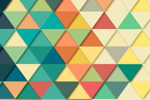 driehoeken in verschillende kleuren