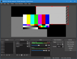 A demo screen from OBS Studio.