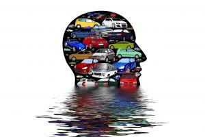 auto's in hoofd