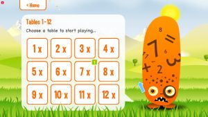 Screenshot uit Squeebles Multiplication