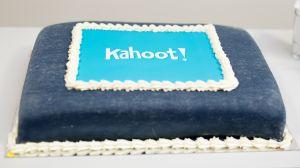 kahoot logo op taart