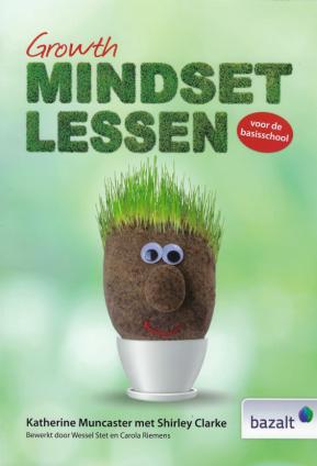 cover boek: titel + hoofdje met gras als haar