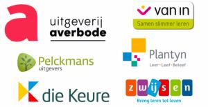 Logo's van de Vlaamse uitgeverijs aangesloten bij GEWU
