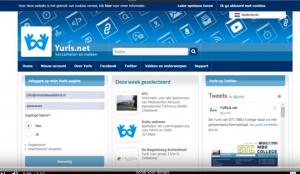 De homepage van Yurls.net