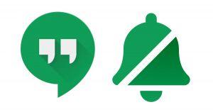 Icon van Google Hangouts en geen melding