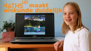 meisje naast een laptop