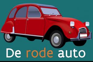 een rode auto