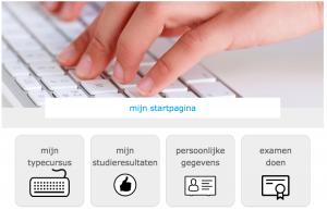 TICKEN typecursus startpagina leerling met typende vingers