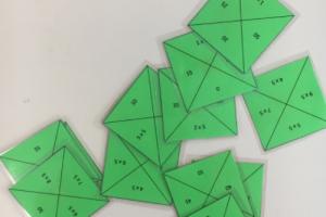 puzzelstukjes om de maaltafels te oefenen