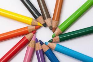 Verschillende kleurpotloden