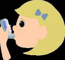 Meisje met aerosol