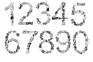 cijfers 0 tot 9
