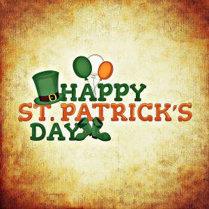 Happy Saint Patrick's Day met groene  hoed en ballonnen