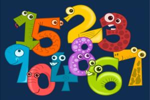 cijfers met een gezichtje
