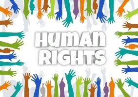 gekleurde handen rond human rights