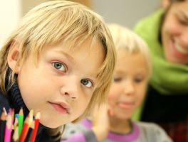 Leerlingen in een klas