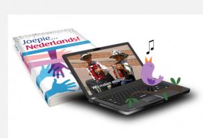 Werkboek met laptop