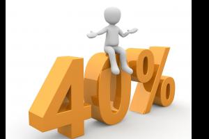 mannetje zit op 40 procent