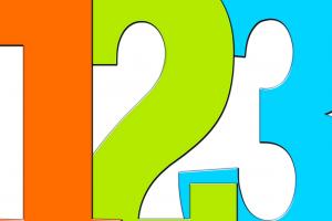 gekleurde cijfers 1 2 3