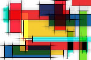 rechthoeken in verschillende kleuren