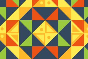 gekleurde driehoeken door elkaar