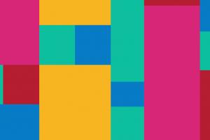 verschillende gekleurde rechthoeken naast elkaar