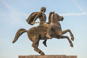 Alexander De Grote op een paard