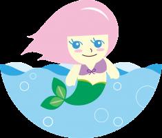 Zeemeermin in het water